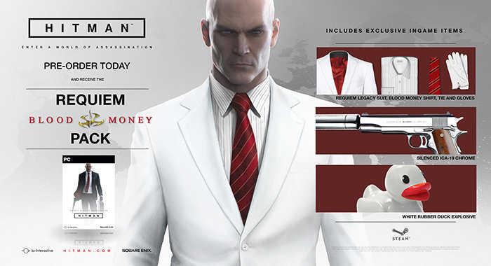 hitman pre order bonus