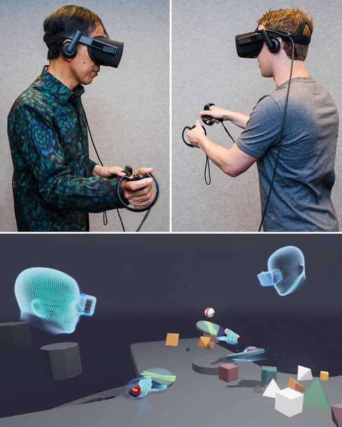 Presiden Jokowi & Zuckerberg - Oculus Rift