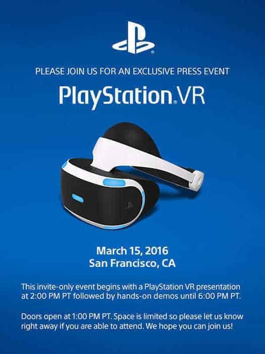 PlayStation VR Exclusive Event