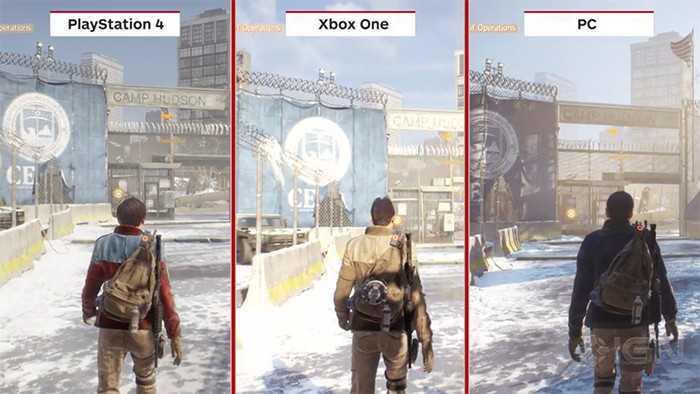 The Division Graphic Comparison