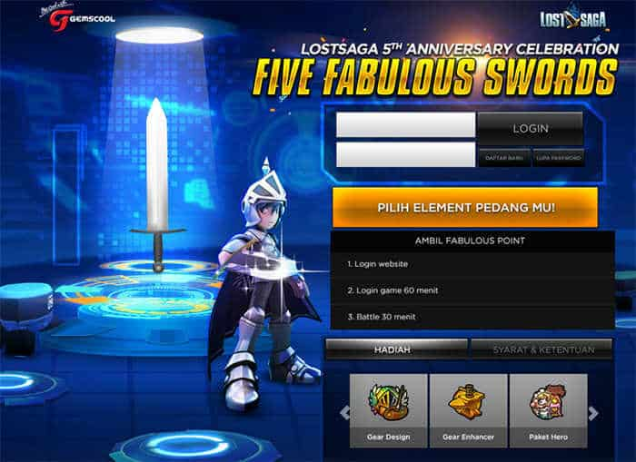 Lost Saga Online Indonesia Anniversary Event