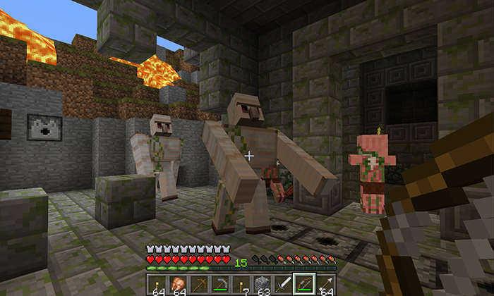 Minecraft game screenshot