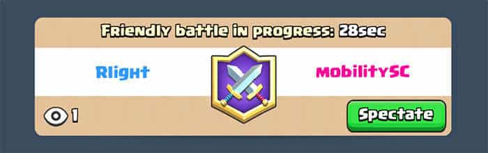 Clash Royale Update spectating