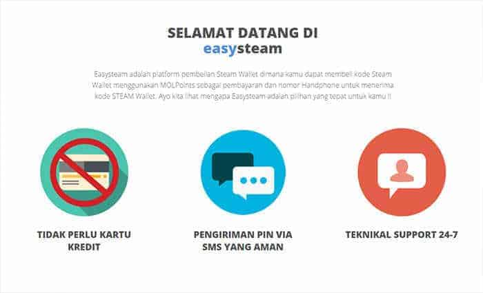 EasySteam welcome