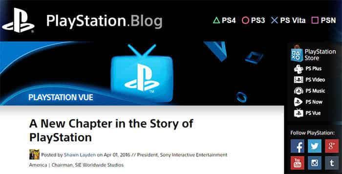 PlayStation Blog site
