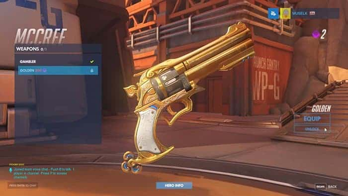 overwatch golden weapons