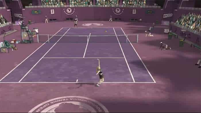 line superstar tennis match