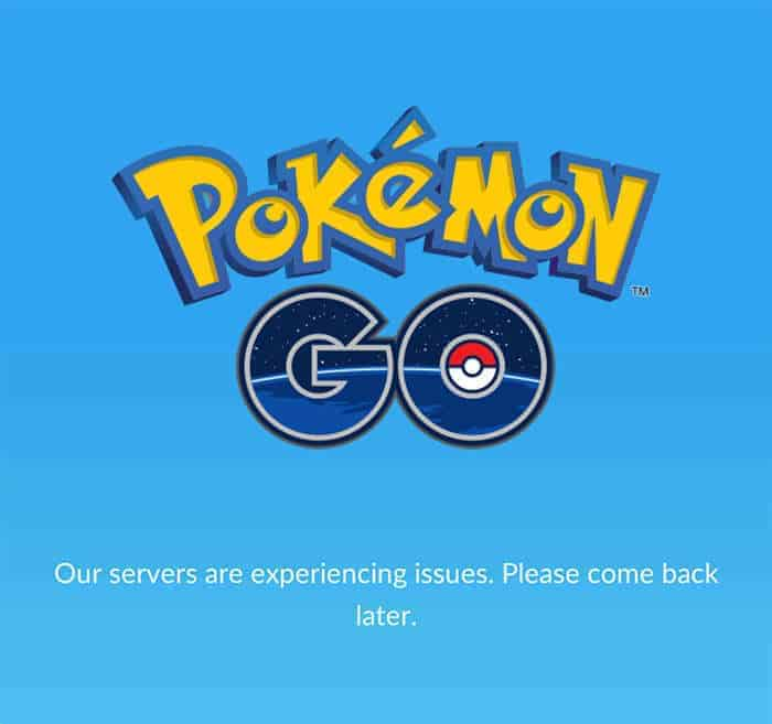 pokemon go maintenance
