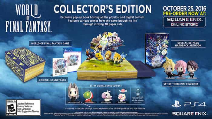 world of final fantasy collectors edition