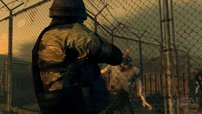 metal gear survive zombie fight