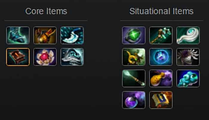 underlord support/offlane late items