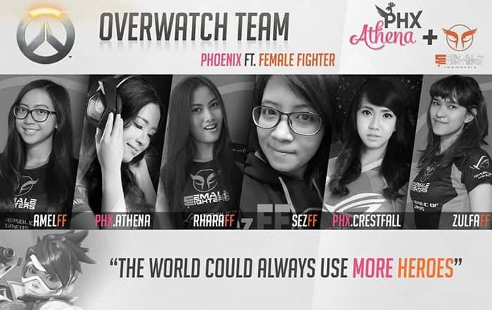 female fighters overwatch team phoenix fighter