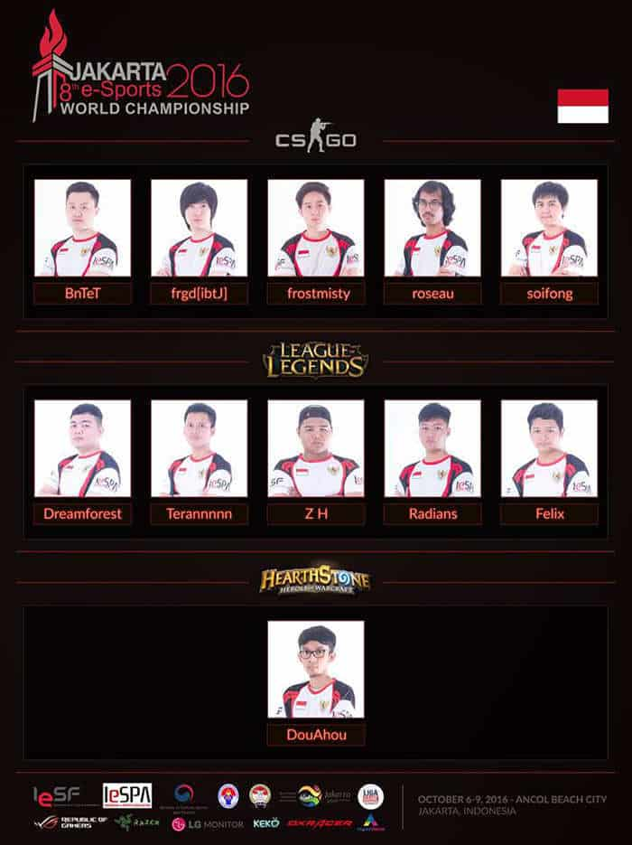 iesf 8th world championship perwakilan indonesia