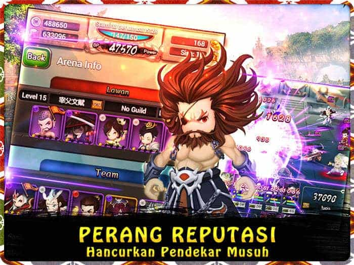 swordsman legend perang reputasi