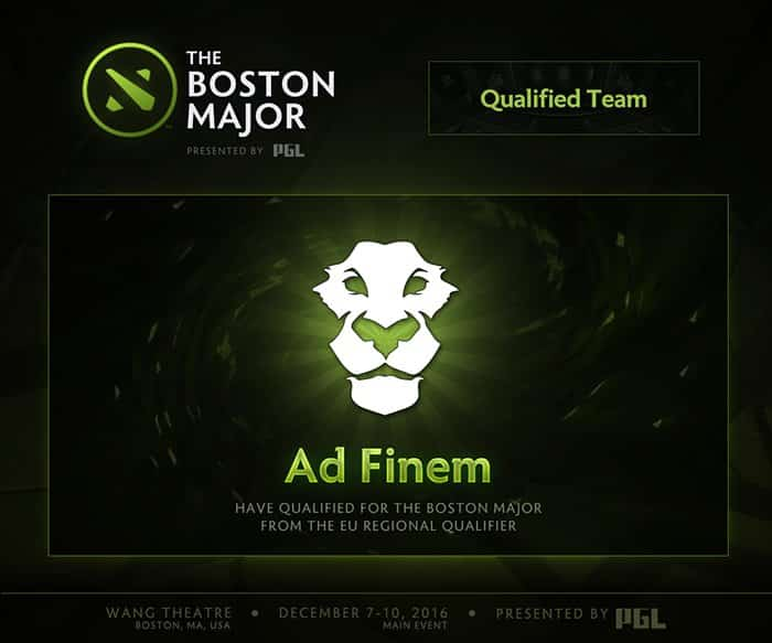 the boston major ad finem