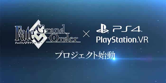 fate grand order x playstation 4 vr