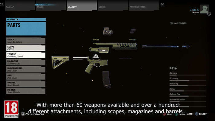 ghost recon wildlands customize weapons