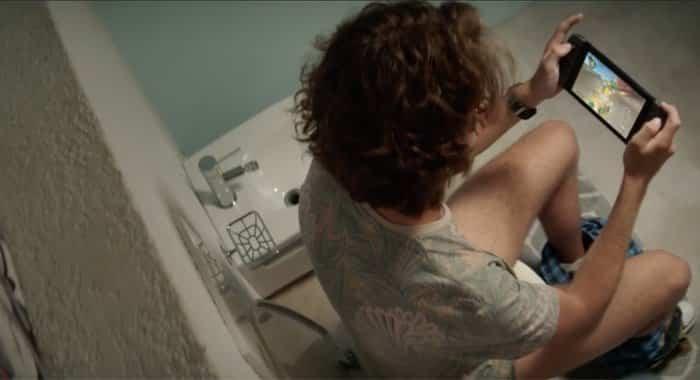 nintendo switch ads toilet