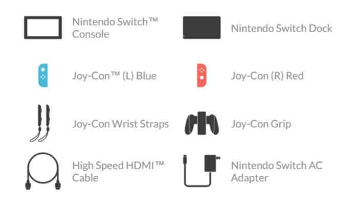 nintendo switch blue and neon red joy con