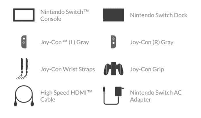 nintendo switch grey joy con