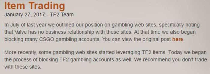 team fortress 2 betting website ban