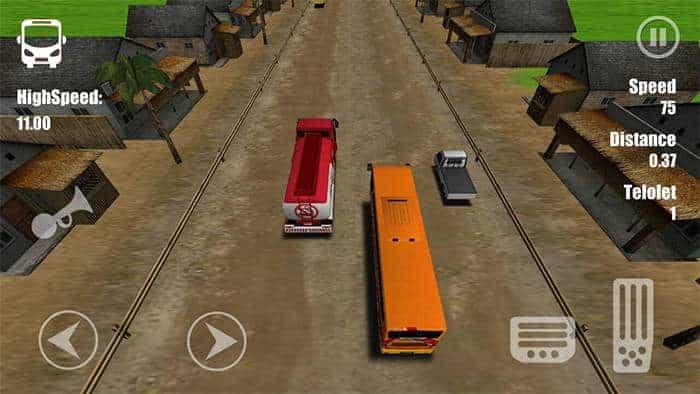 telolet bus driving 3d kampung