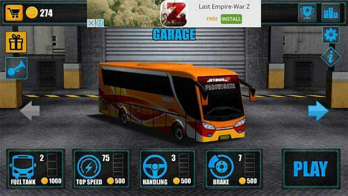 telolet bus driving 3d garage