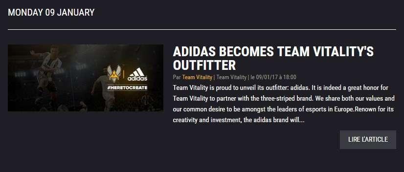 vitality adidas sponsor