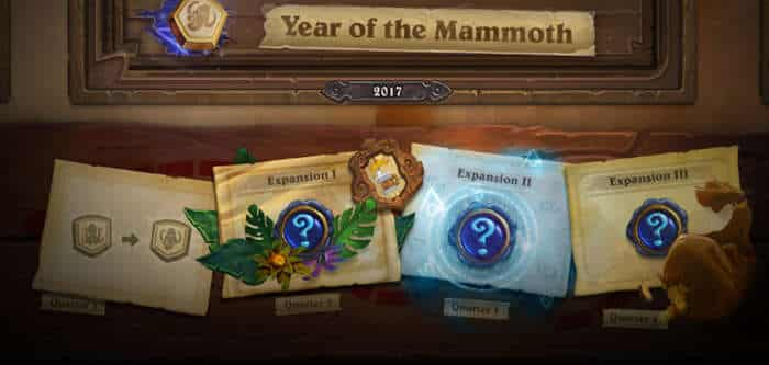 hearthstone year of the mammoth jadwal