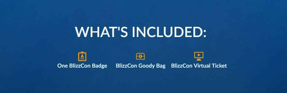 blizzcon 2017 what's included ticket