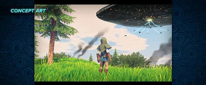 the legend of zelda breath of the wil ufo concept art