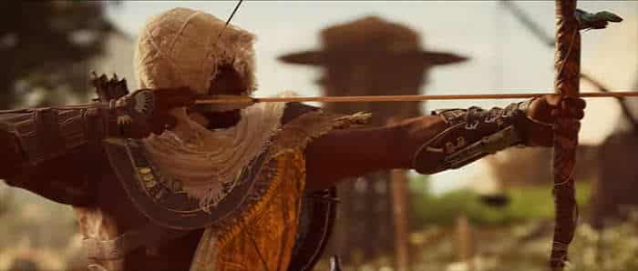assassin's creed origins trailer bow