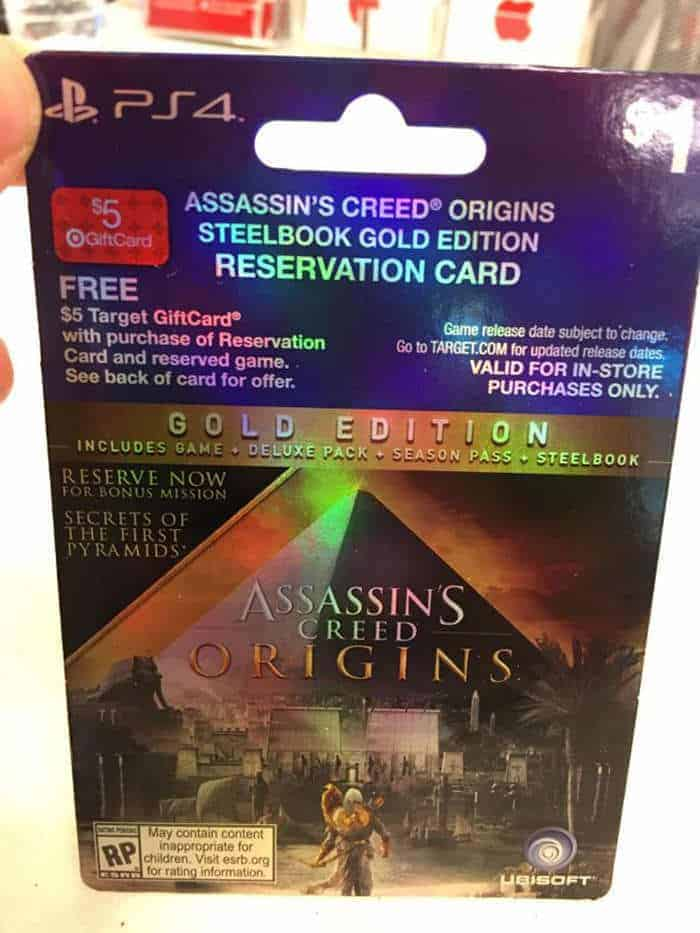 assassin's creed origins pre order ticket