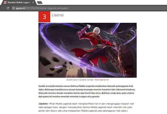 mobile legends hoax hak cipta ggwp artikel