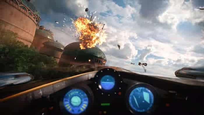star wars battlefront ii gameplay trailer air combat