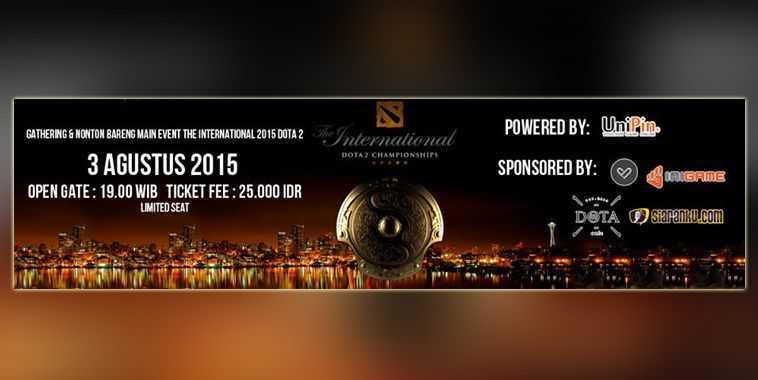 dota cafe nonton bareng the international 2015