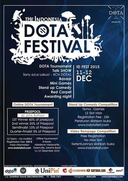 indonesia dota festival dota cafe