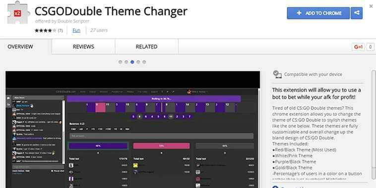 Google Chrome add-on CS:GO