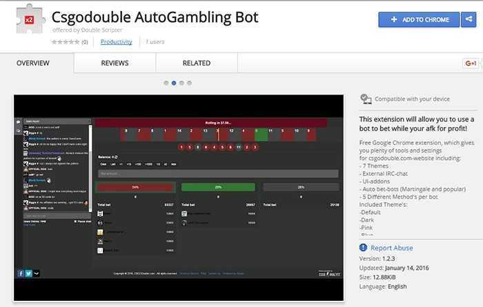 Google Chrome add-on gamble