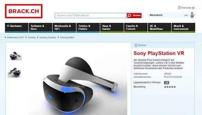 playstation vr swiss price brack ch