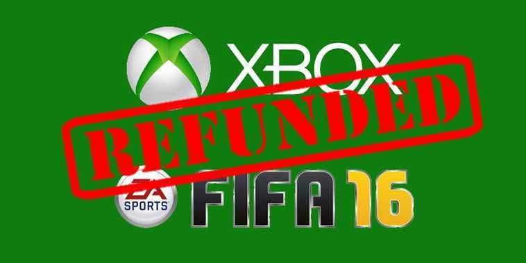 Microsoft Refund FIFA 16 Illustration