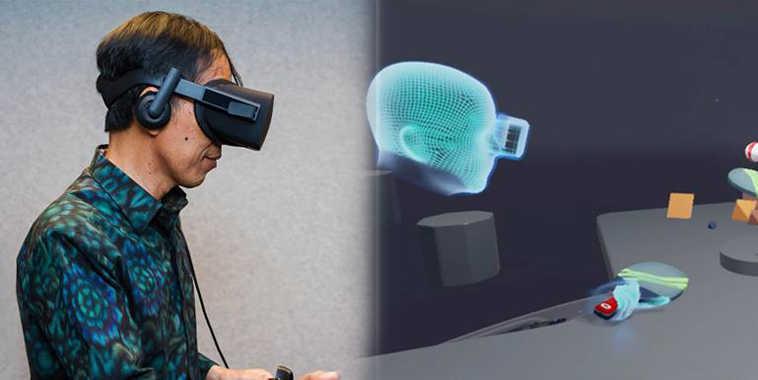 Presiden Jokowi mencoba Oculus Rift