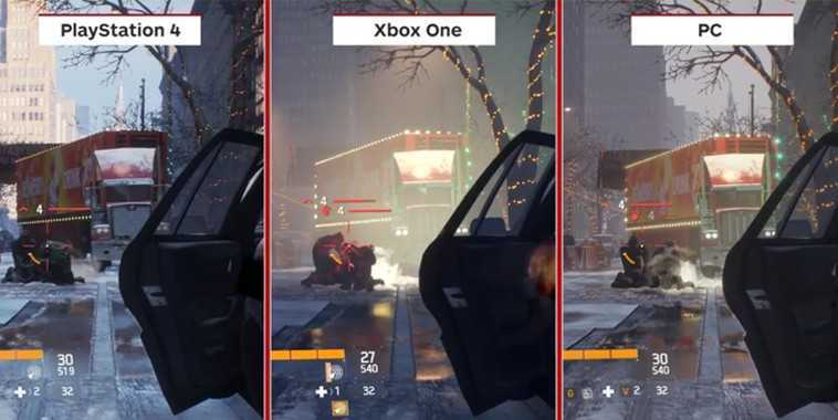 The Division Graphic Comparison (by IGN)