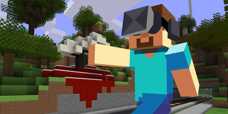 Minecraft in Virtual Reality