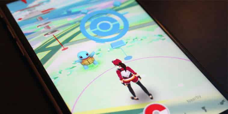 Pokemon GO on the screen