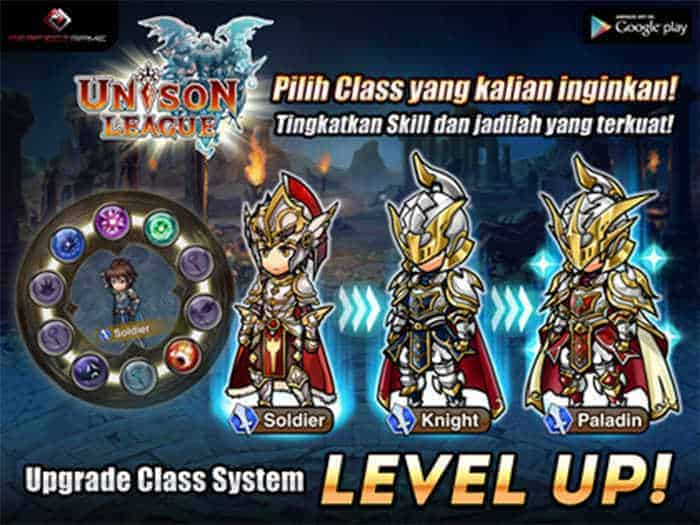 unison league indonesia gear level up