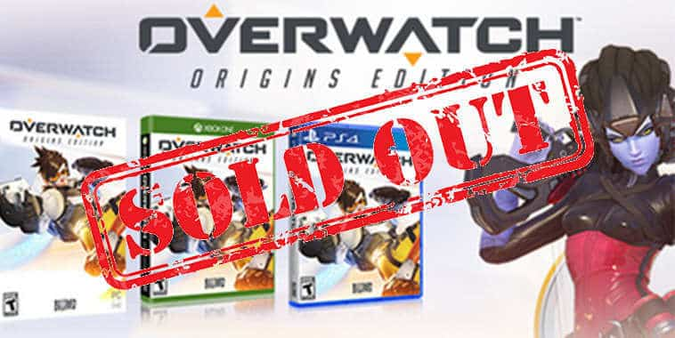 overwatch sold out in amazon