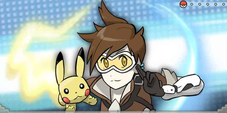Tracer bersama Pikachu Credit to Chris Perez