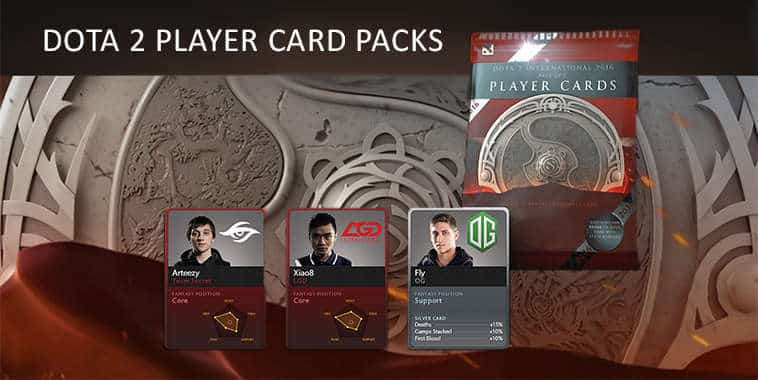 dota 2 player card packs