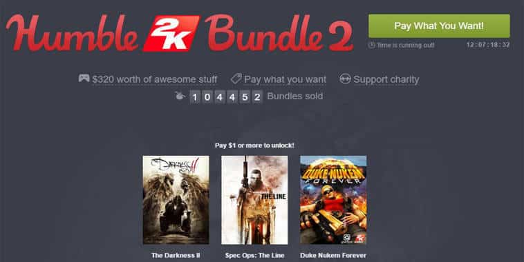 humble bundle 2k games
